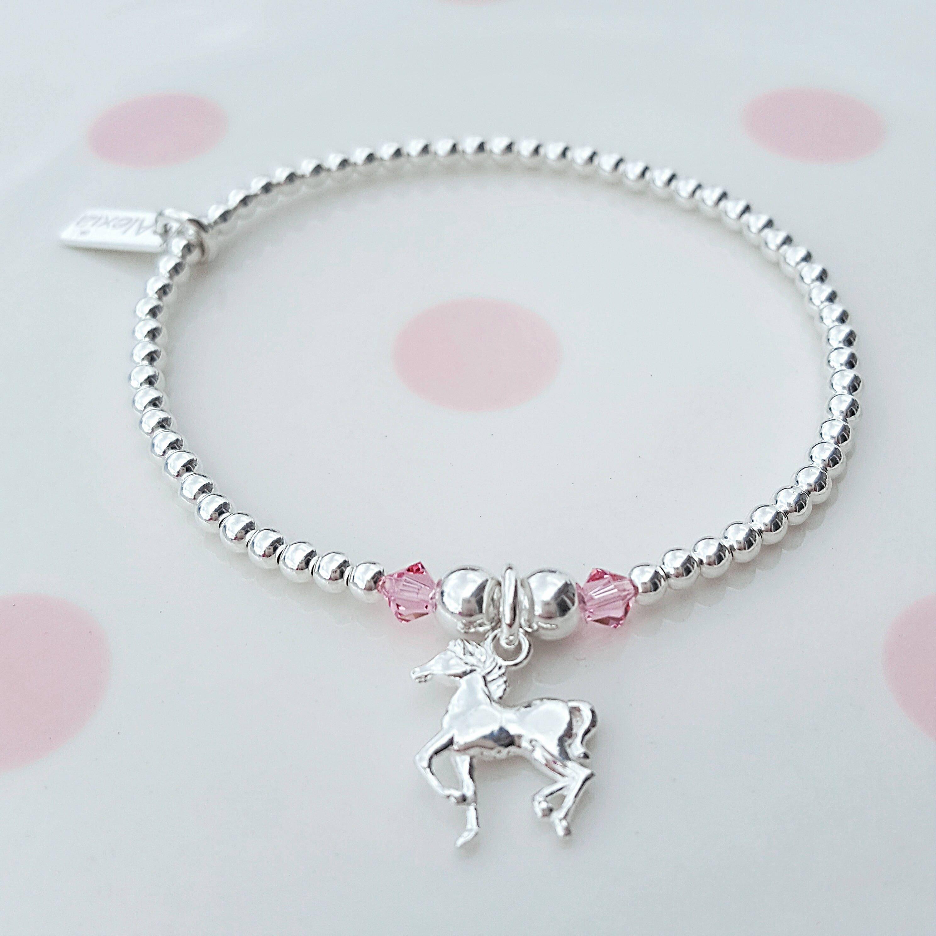 horse bracelet sterling silver horse bracelet silver horse