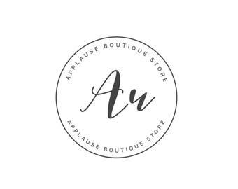 modern logo, shop logo design, hand lettering logo, blog logo, photography logo, modern shop logo, premade logo