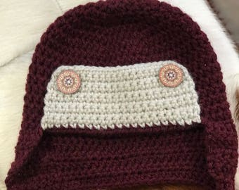 Crocheted hat for toddler.