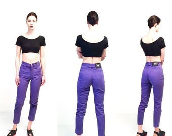 WEEKEND40%OFF Vtg Versace Jeans Couture Purple High Waist Pants