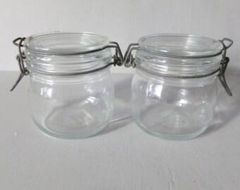 French Vintage Canning Jars, Preserve Jars, Confit jars, Vintage Jam Jars, French Vintage Kitchen Decor