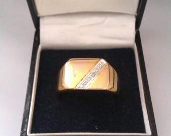 men's 925 DIA signet ring