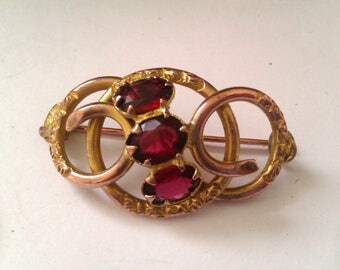 vintage love knot brooch