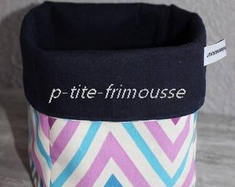 Fabric basket all utilities, bathroom, living room etc. Linen and cotton.