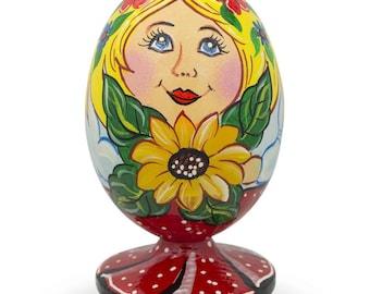 "3.5"" Russian Nesting Doll Matryoshka with Sunflower Wooden Figurine"