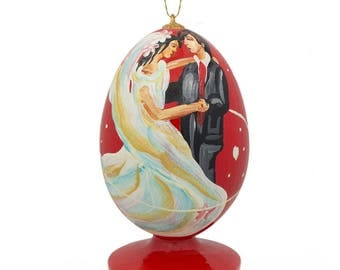 "3.5"" First Dance on Wedding Night Wooden Christmas Ornament"