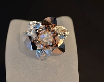 "Crystal ring of Swarovski ""Tinkerbell"" crystal moonlight-rose gold 2x"