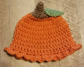 FREE SHIPPING!!! Crochet Pumpkin Hat/Beanie
