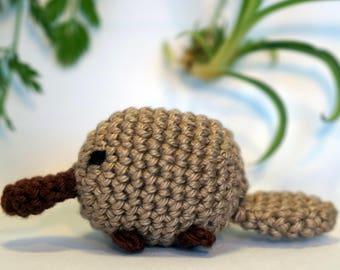 platypus plushie keychain - crochet amigurumi