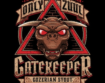 "LADIES FIT ""Gatekeeper Gozerian Stout"" Zuul T-shirt"
