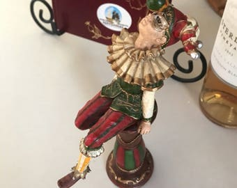 Super cute court jester figurine