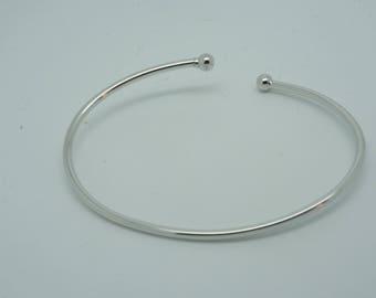 Open Bangle Bracelet that unscrews in sterling silver