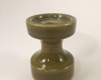 Vintage Steuler green candle holder
