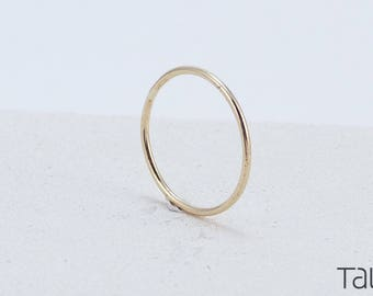 Simple Gold Ring, 14k Solid Gold, Thin Wedding Ring, Forever Gold Ring, Perfect Ring, Classic Wedding Ring, Wedding Ring, Yellow Gold Ring