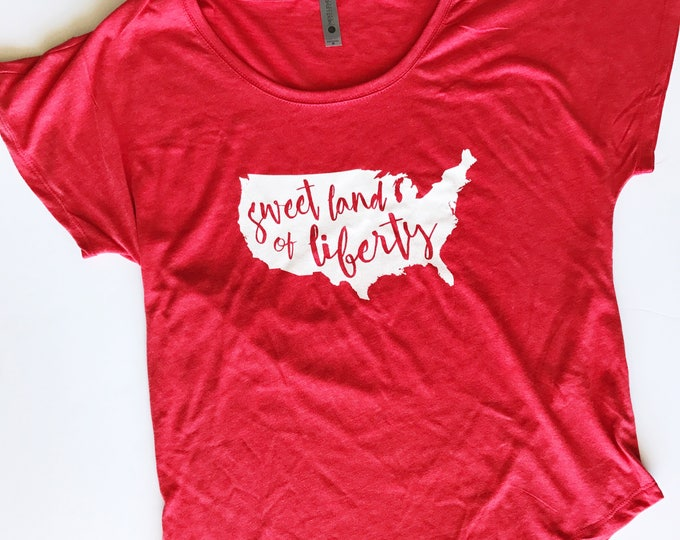 Featured listing image: Sweet Land of Liberty Loose Fit Tee