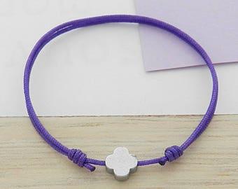 Cord baby-toddler with Hematite flower bracelet