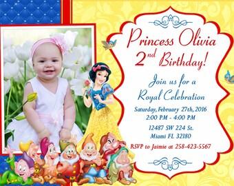 Snow White Invitation Birthday Snow White Party