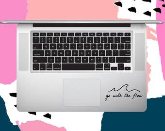Go With The Flow Wave Decal - Wave Decal -  laptop decal- all surface decal - vinyl - vinyl decals