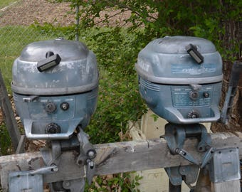 1952 Evinrude Light Twin Outboard Motor 3HP Serial #3012/32350 Item#4156 & #4157