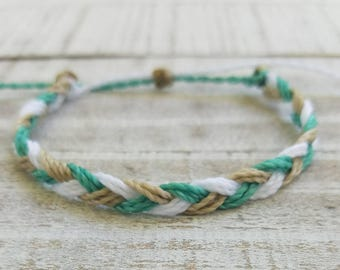 Braided Bracelet, Beach Bracelet, Surfer Bracelet, Friendship Bracelet, Stack Bracelet, Waterproof Bracelet, Braided Anklet, Beachy Anklet