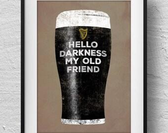 Cartel de Guinness, impresión de guinness, arte de Guinness, los amantes de la cerveza de malto de impresión, los amantes de la Guinness, Arte irlandés, impresión personalizada, arte de pared de guinness,