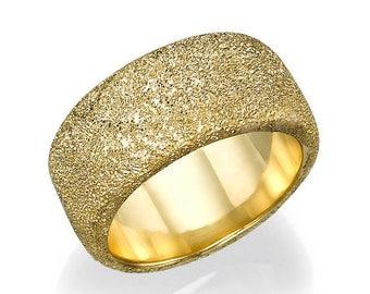 Wedding Ring Gold 14k With Glitter, Wedding Band, Unique Weddding Ring,  Glitter Ring, Wedding rings women, Wedding Ring Vintage