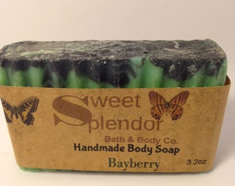 Handmade Bayberry Soap, Bath and Body Soap,