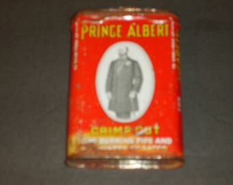 Old prince Albert upright  pocket Tobacco TIN patented 1907