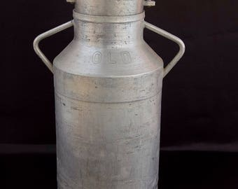 French Vintage Aluminium Milk Churn