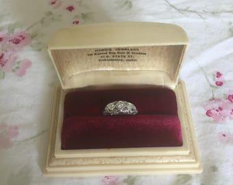 Vintage Shabby Chic/Art Deco/Victorian Ring Presentation Box