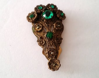 Antique Art Nouveau Fur clip