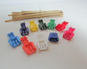 10 cord tip plastic-10 colors - 5 mm wide cord - 1.26