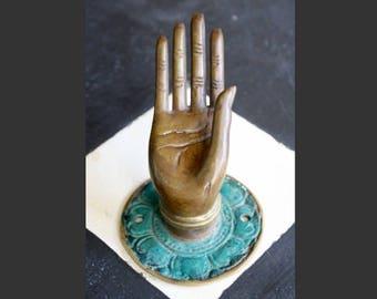 Buddha Hand, Abhaya Mudra, Pull, Hanger, Vintage Balinese MEDIUM