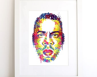 Jay-Z Illustrated Art Print