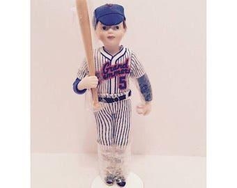 """1991 Avon Childhood Dreams Porcelain Doll """"Grand Slammers"""""""