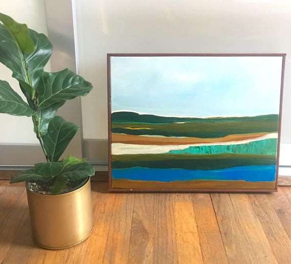 Original Framed Abstract Landscape Painting