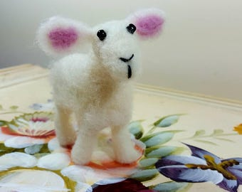 Free standing needle felted Lamb/Sheep