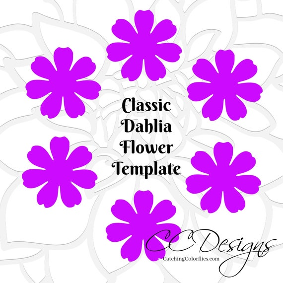 Small dahlia flower template pdf printable dahlia flower templates il570xn mightylinksfo