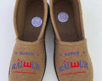 camel color way slippers booties