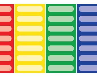 Quarter Box Planner Stickers: Rainbow