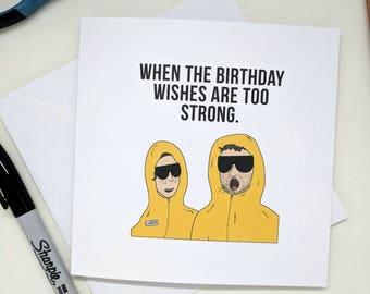 Ethan & Hila cringe meme - Ethan and Hila inspired birthday card, H3H3 themed birthday card, greetings card, Blank, Minimalist card,