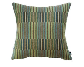 Vibrant Emerald Throw Pillow, Classic Style Wool Cushion