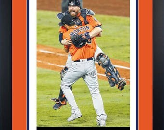 Houston Astros 11/2/17 Framed Houston Chronicle Newspaper Front Sports Page World Series Champions