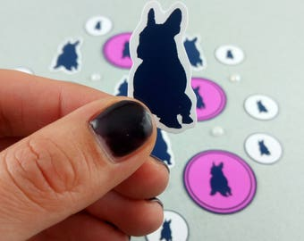 "Small stickers-set ""French Bulldog"" silhouette"