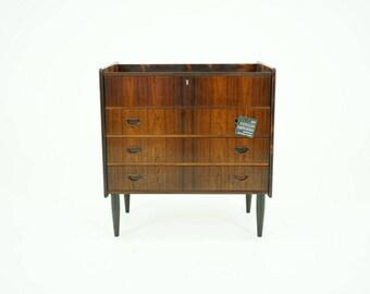 309-117 Danish Mid Century Modern Rosewood Vanity Dressing Table Dresser