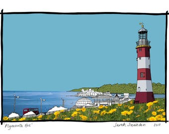 Plymouth Hoe | smeatons tower print various sizes