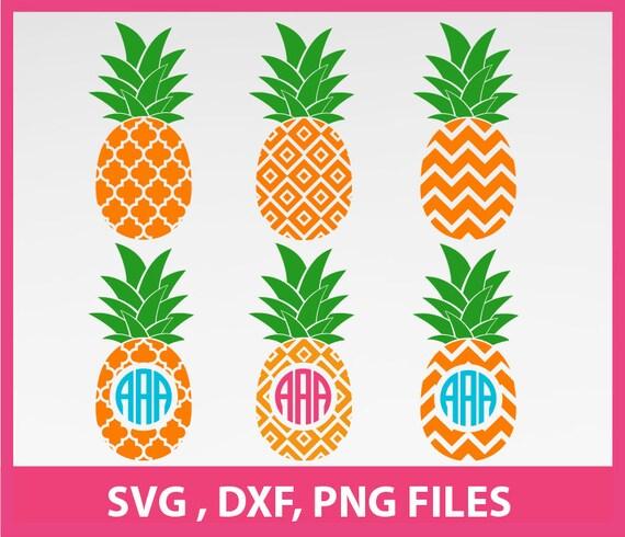 Download Pineapple SVG Pineapple Monogram Frame Svg DXF PNG Formats