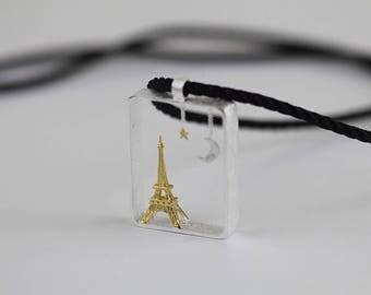 Paris live pendant, silver pendant, large pendant, la tour eiffel,pendant, Eiffel Tower pendant