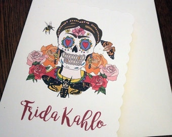 Frida kahlo day of the dead inspired wallet space to keep frida kahlo day of the dead greetings m4hsunfo