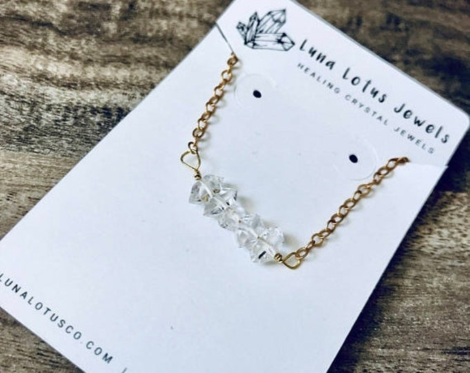 CLEARANCE SALE Herkimer Diamond Delicate Necklace